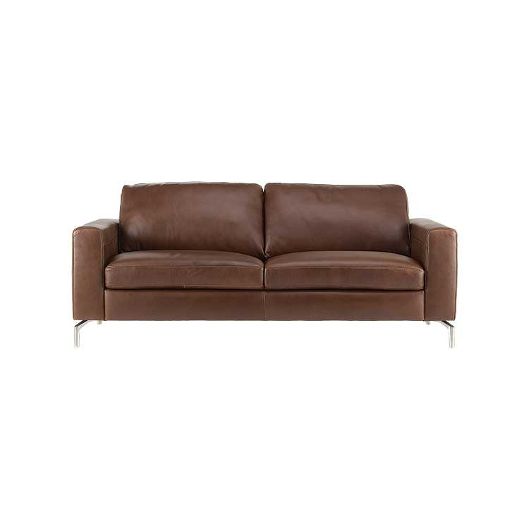 Affordable Modern sofa- leather sectional, and ottoman - Seattle furniture