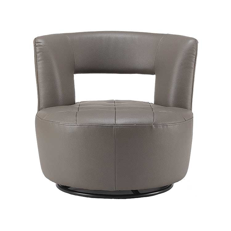 affordable modern grey leather swivel accent chair seattle furniture