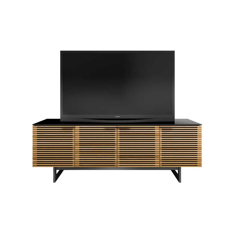 Modern, large, wood media cabinet - Modern furniture stores Bellevue
