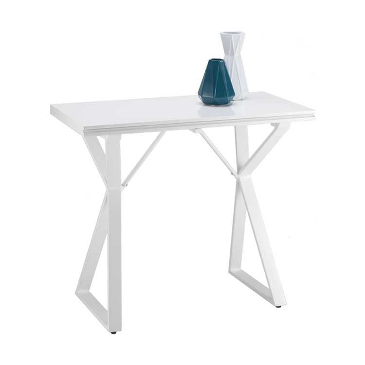 Modern, affordable white console table and work table - Bellevue furniture store
