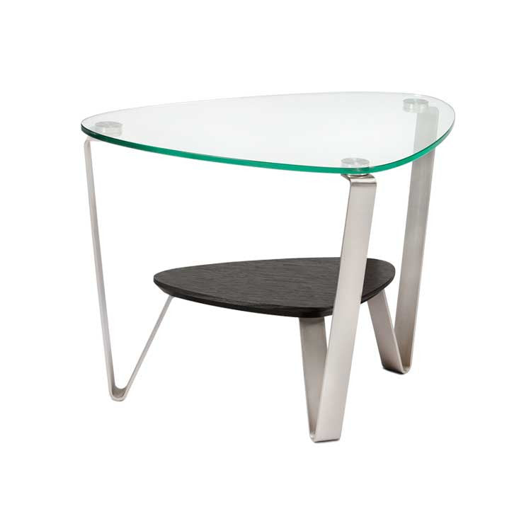 Modern glass end table - Modern furniture Seattle