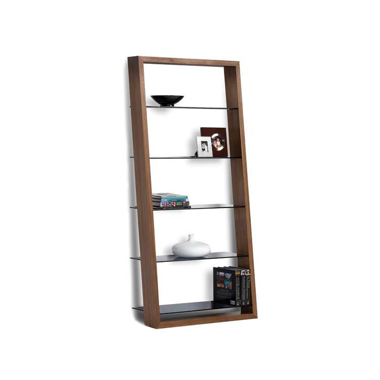 Modern wood leaning shelf - Bellevue modern furniture store