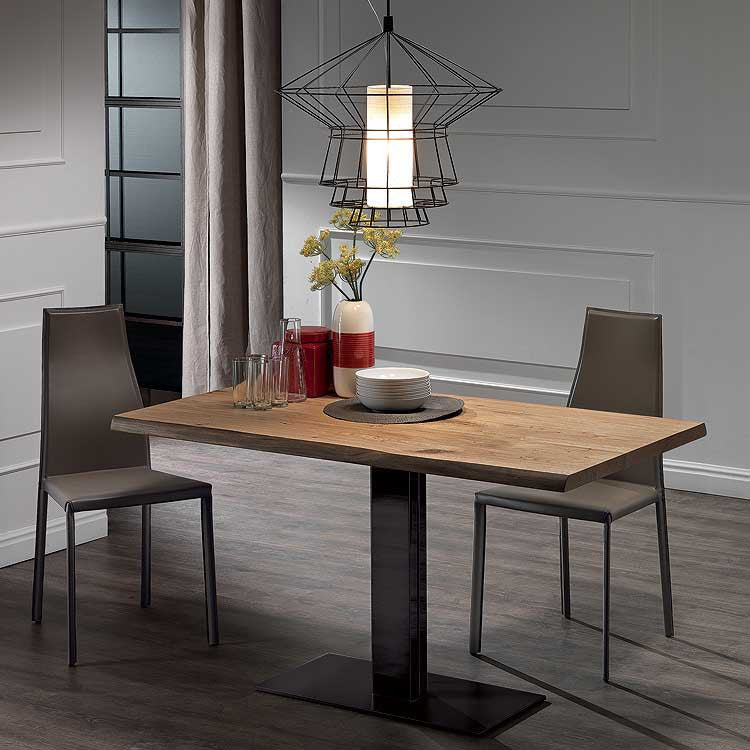 Modern wood dining table - cut wood dining table - Italian dining table