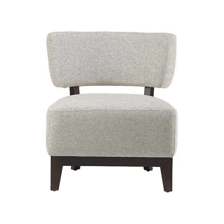 Affordable Modern White Fabric Accent Chair   Seattle Furniture