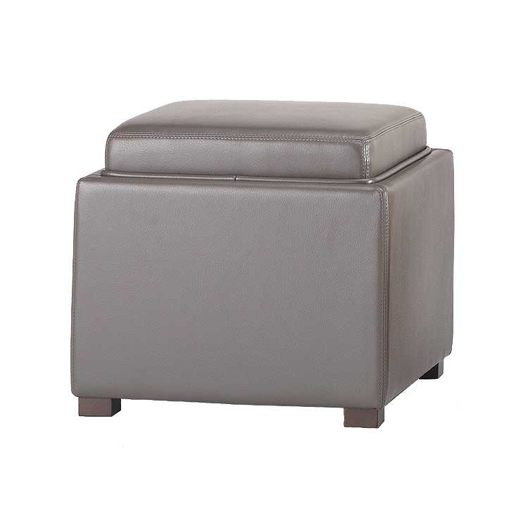Modern grey leather storage ottoman and tray top - Bellevue modern  furniture store - Felix_grey_1024x1024.jpg?v=1469729518