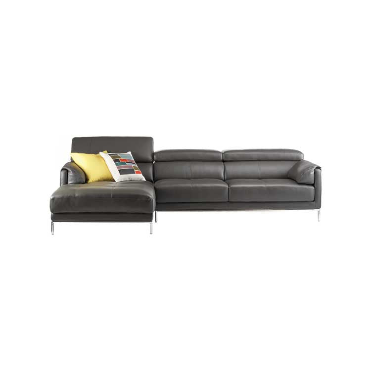 Wonderful Modern Grey Leather Sectional   Modern Furniture Seattle   Tukwila Furniture