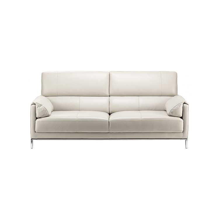 Light grey leather sofa - leather couch - Modern sofa