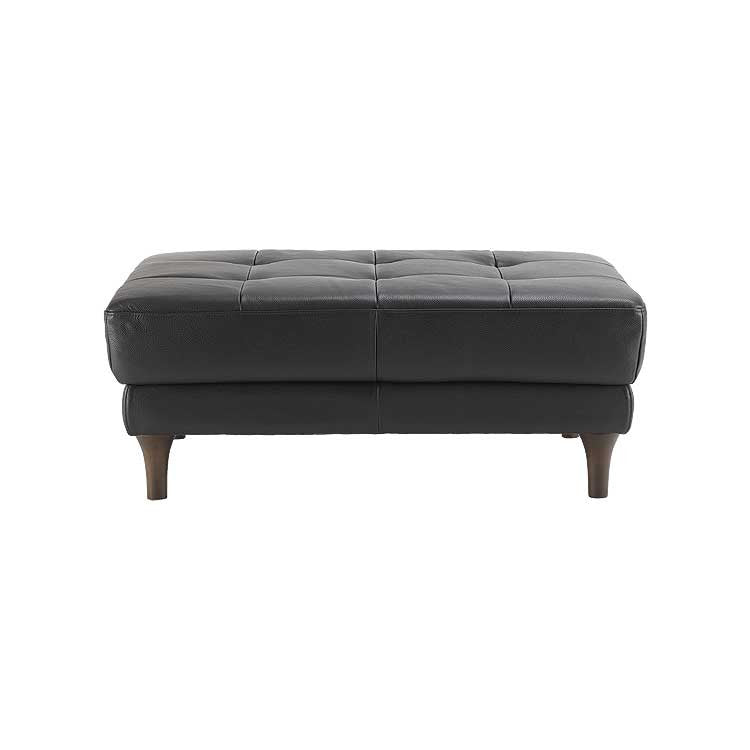 Modern, tailored leather sofa, sectional and ottoman - Seattle furniture