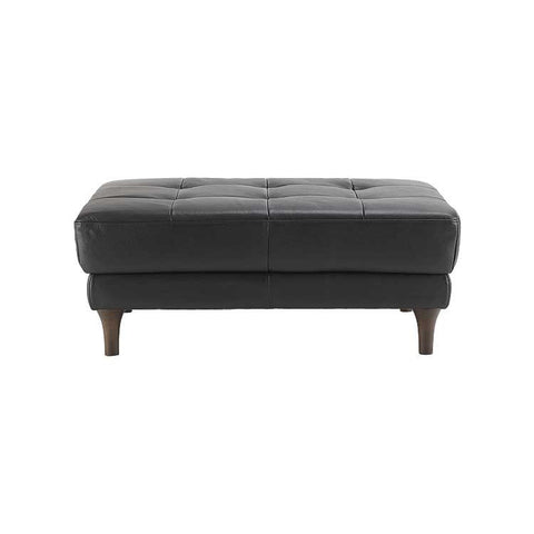 Lucca Leather Ottoman
