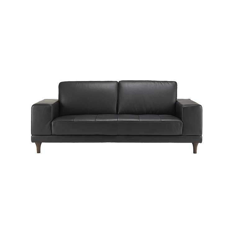 Modern, tailored leather sofa, sectional, and ottoman - Seattle furniture
