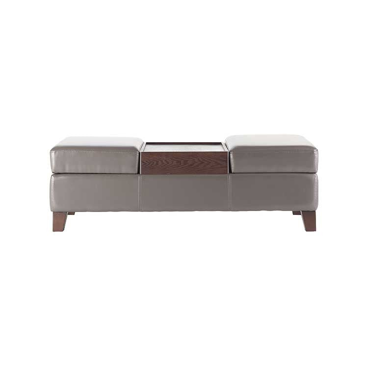 Exceptionnel Modern Grey Leather Storage Bench   Storage Ottoman   Modern Furniture  Bellevue