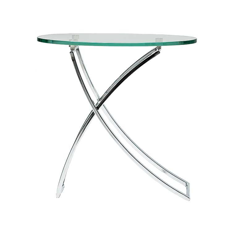Modern glass side table - accent table - Living room furniture Seattle
