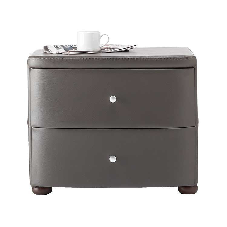 Modern, affordable leather nightstand - Modern furniture store Bellevue