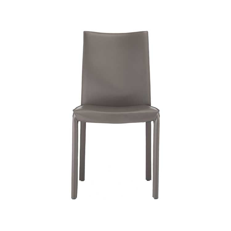 Modern, Leather, Simple Dining Chair Grey   Seattle Furniture