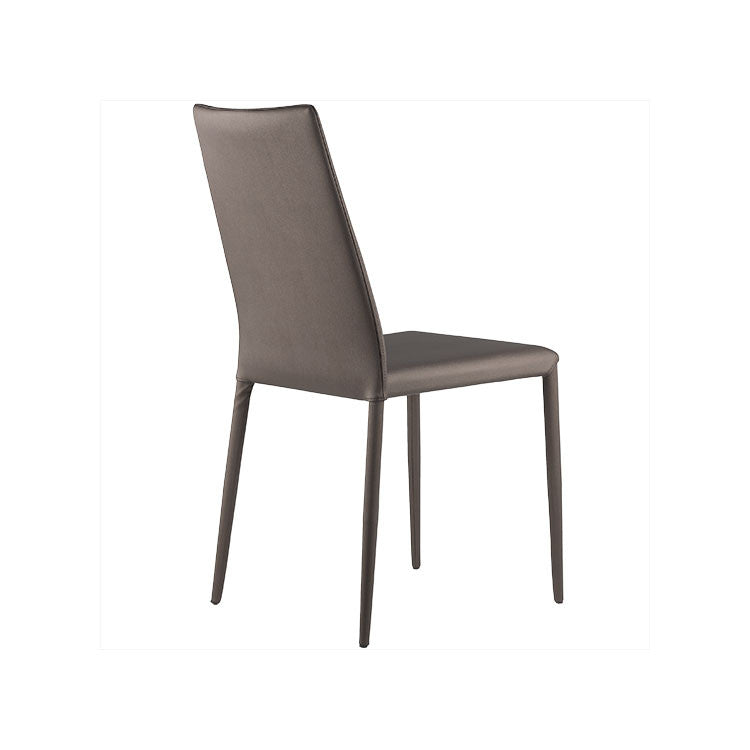 Modern grey leather dining chair - simple dining chair - Seattle furniture