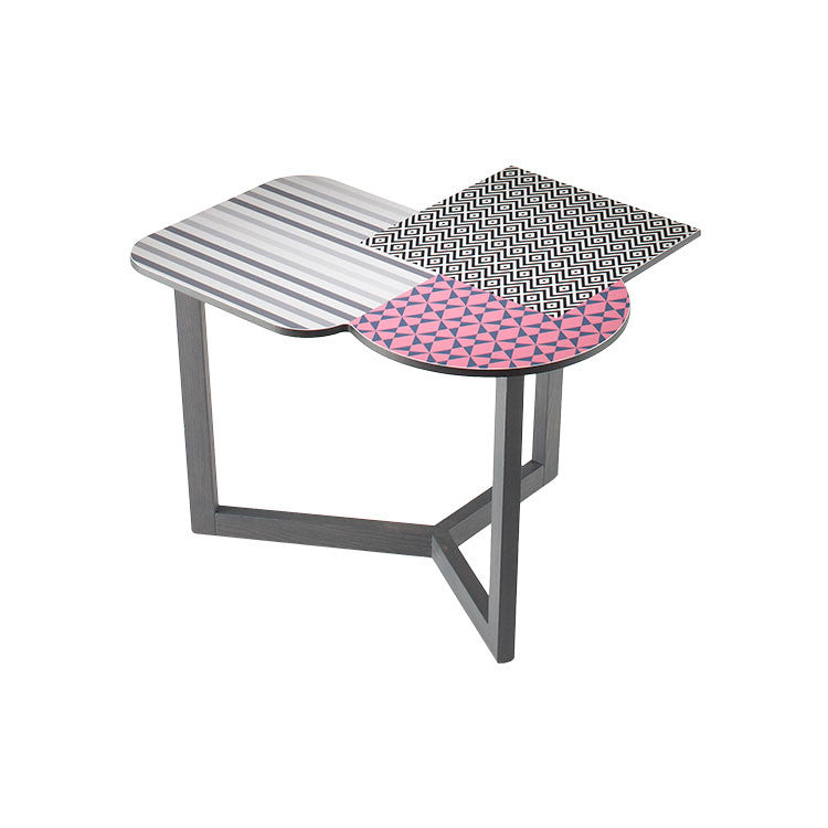 Modern graphic accent table. Side table. End table. Dania