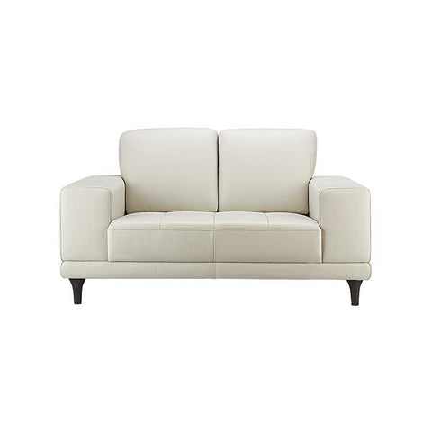 lucca leather loveseat