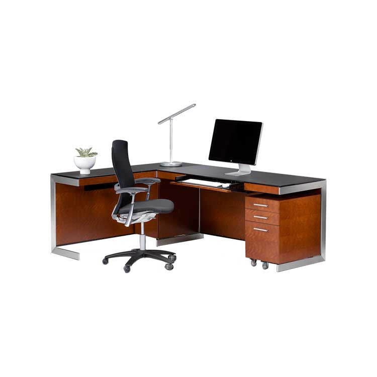 BDI modern wood desk set - home office set - Seattle furniture store