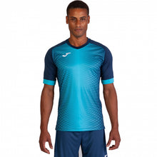 Load image into Gallery viewer, Supernova Jersey S/S - Navy/Fluorescent Turquoise