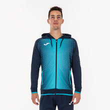 Load image into Gallery viewer, Supernova Hooded Jacket - Dark Navy/Turquoise