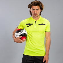 Load image into Gallery viewer, SoccerDCF: Referee S/S Jersey (2019-20) Fluorescent Yellow