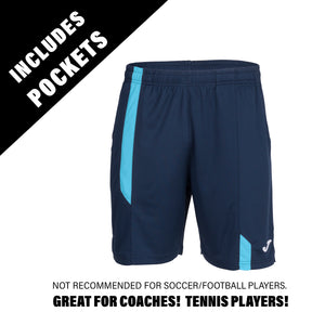 Supernova Short w/ Pockets - Navy/Turquoise