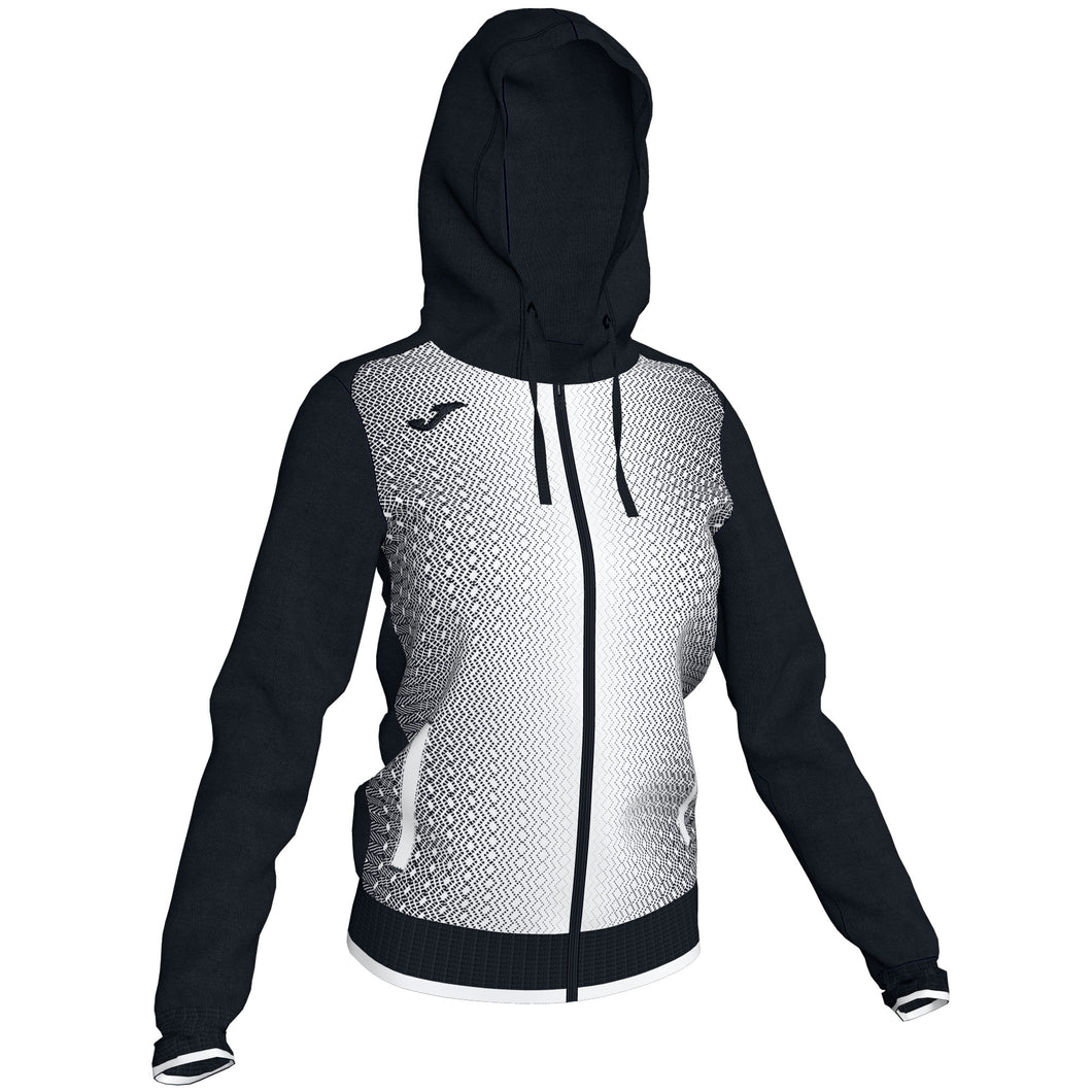 Supernova Hooded Women's Jacket - Black/White
