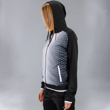 Load image into Gallery viewer, Supernova Hooded Women's Jacket - Black/White