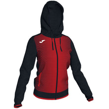 Load image into Gallery viewer, Supernova Hooded Women's Jacket - Black/Red