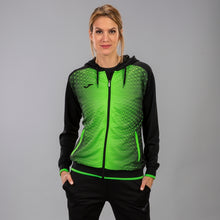Load image into Gallery viewer, Supernova Hooded Women's Jacket - Black/Fluorescent Green