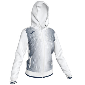 Supernova Hooded Women's Jacket - White/Dark Navy