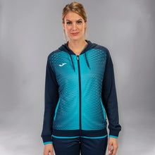 Load image into Gallery viewer, Supernova Hooded Women's Jacket - Dark Navy/Turquoise