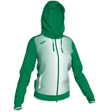 Load image into Gallery viewer, Supernova Hooded Women's Jacket - Green/White