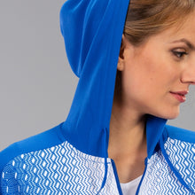 Load image into Gallery viewer, Supernova Hooded Women's Jacket - Royal/White