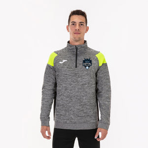 Crew II Sweatshirt (1/2 Zip) - Grey/Black/Flourescent Yellow