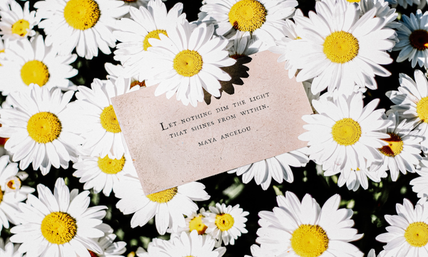 Self Love! Skincare! Flowers With Quote.