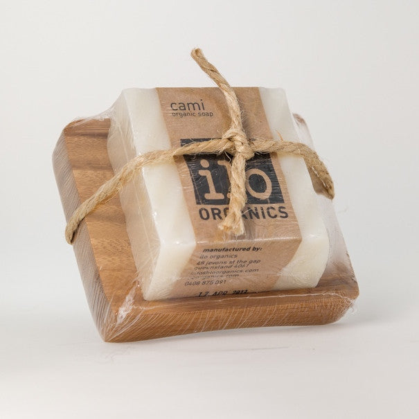 cami gift - single soap + bamboo drainer 240g
