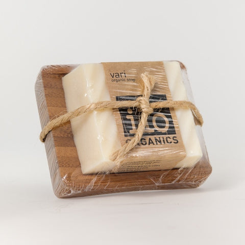 vari gift - single soap + bamboo drainer 240g