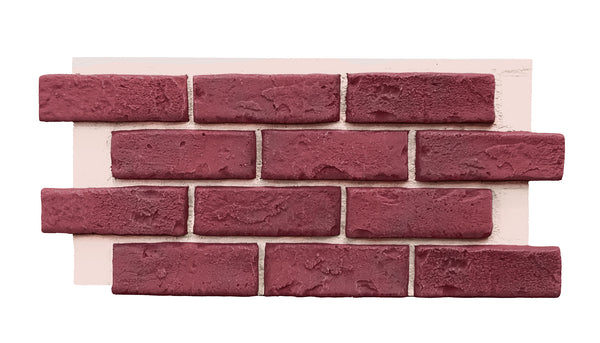 Deep Red Brick Half Panel