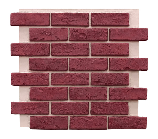 Deep Red Brick Panel