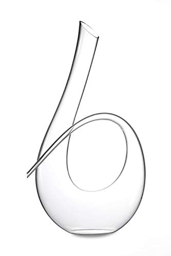 horn shaped wine decanter