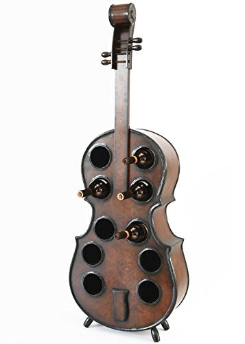 wooden cello shaped rack
