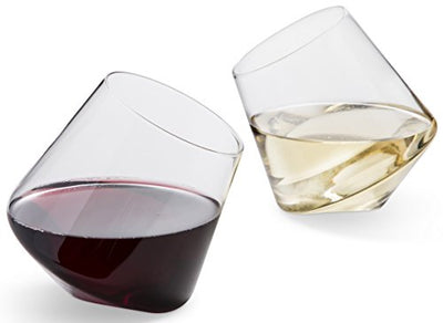 Hand Blown Stemless Wine Glasses