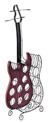 Wine Holder Guitar Shaped 9 Bottles - Wine Wild West - Wine Gifts and Accessories
