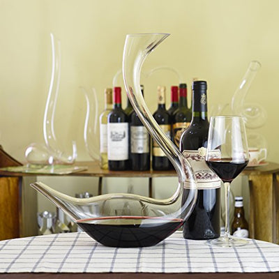swan shaped wine decanter