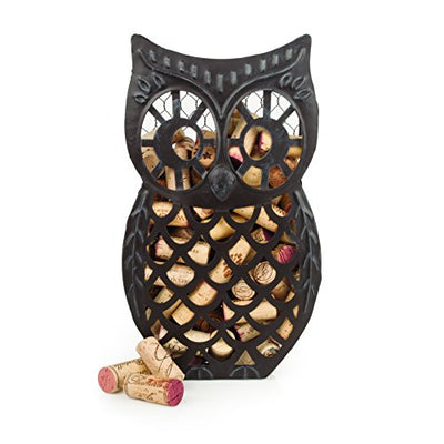 wine owl metal cork holder
