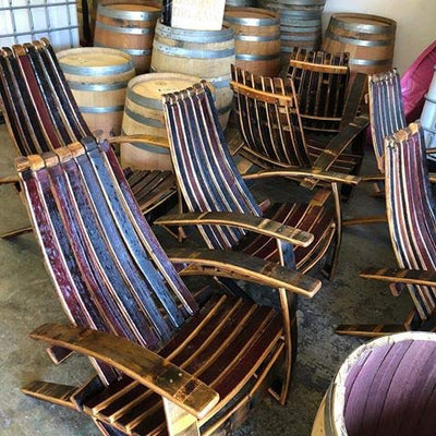 wine barrel adirondack chair for sale