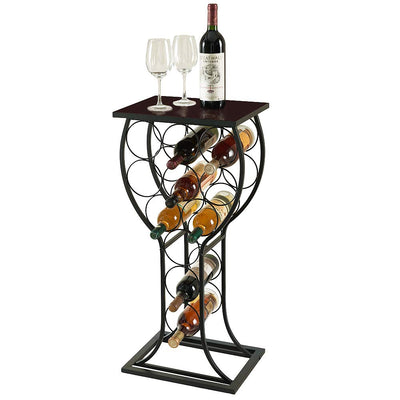 black freestanding wine rack