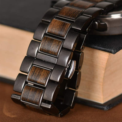 Mens Wooden Watches Business Casual - Wine Wild West - Wine Gifts and Accessories
