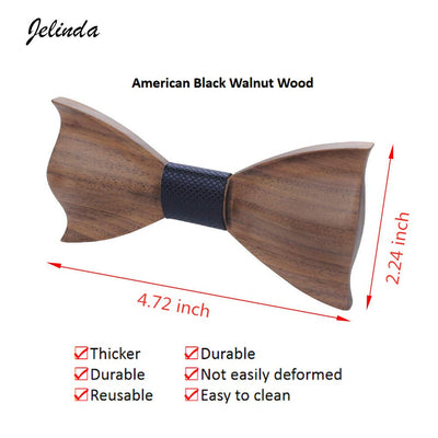 Wooden Bow Tie Set - Wine Wild West - Wine Gifts and Accessories